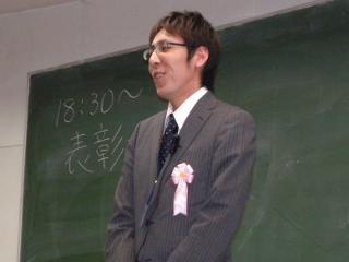解説でも活躍した昨年新人王の広瀬棋士 表彰式で