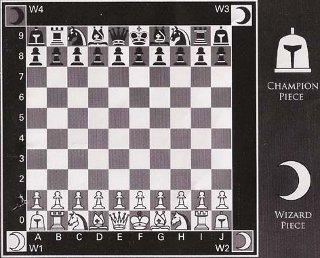 Omega Chessのマニュアルから初期配置の図